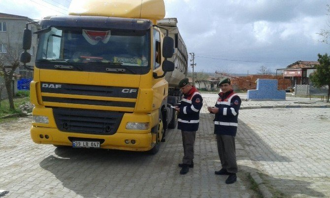 Jandarma Ve Zabıtadan Tonaj Kontrolü