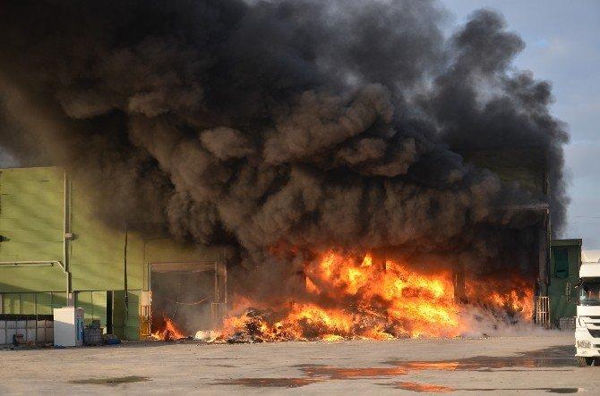 Katı Atık Fabrikasında Korkutan Yangın
