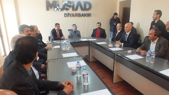 DÜ Rektörü Saraç'tan Musiad Diyarbakır Şubesine Ziyaret
