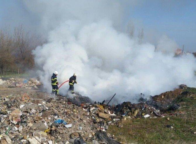 Çöplük Yangını Mahalleliyi Çileden Çıkardı