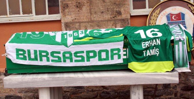 Bursaspor spikeri son yolculuğuna uğurlandı