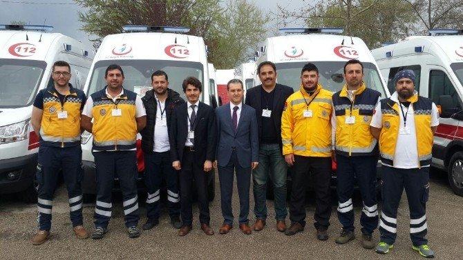 Sağlık Bakanlığı Tarafından Bilecik'e 7 Ambulans
