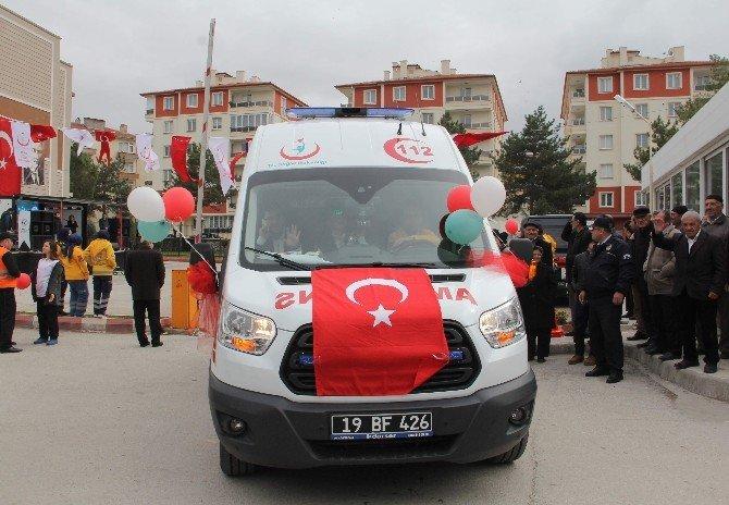 Çorum'da Ambulans Dağıtım Töreni