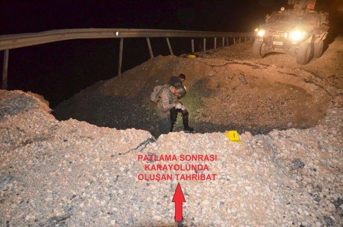 Yola döşenen bomba son anda fark edildi