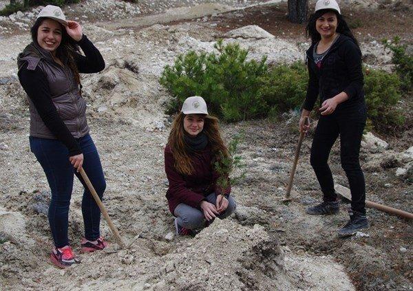 Kütahya'da 250 Sedir Ve 250 Karaçam Fidanı Toprakla Buluştu