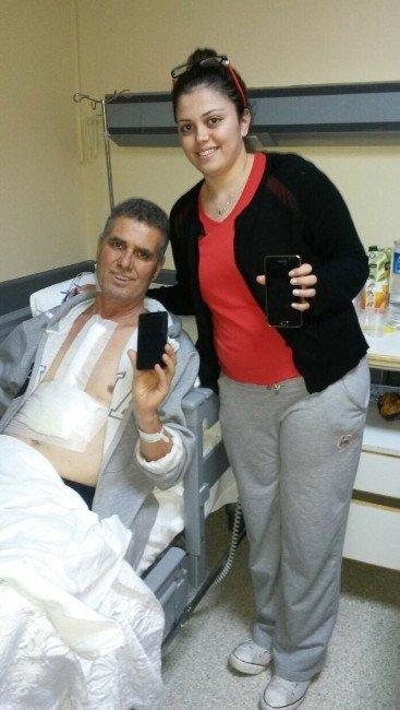 Tedavi Gördüğü Hastanede Çalınan Telefonu Bulununca Sevince Boğuldu