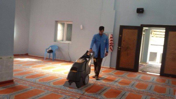 Reyhanlı Belediyesi Destek Hizmetleri Camileri Temizliyor