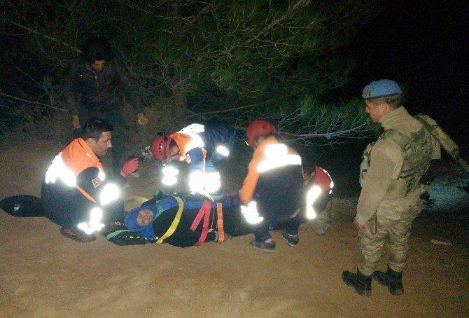 Sınırda Yaralanan Suriyeli Tedavi Altına Alındı