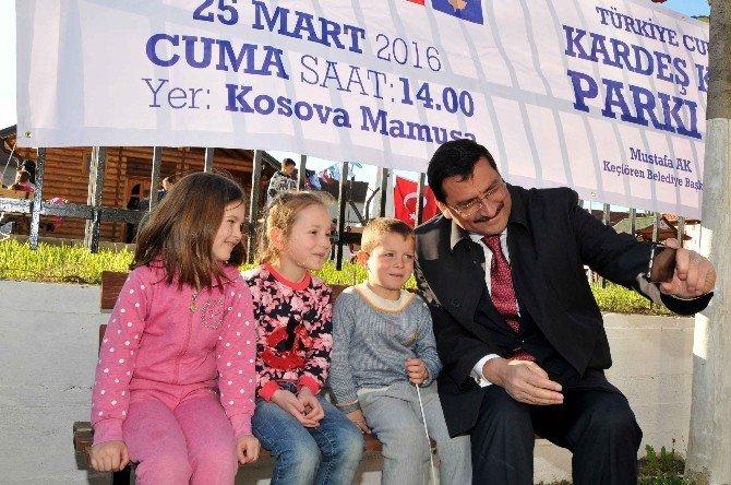 """Mamuşa'da """"Kardeş Keçiören Parkı"""" Açıldı"""