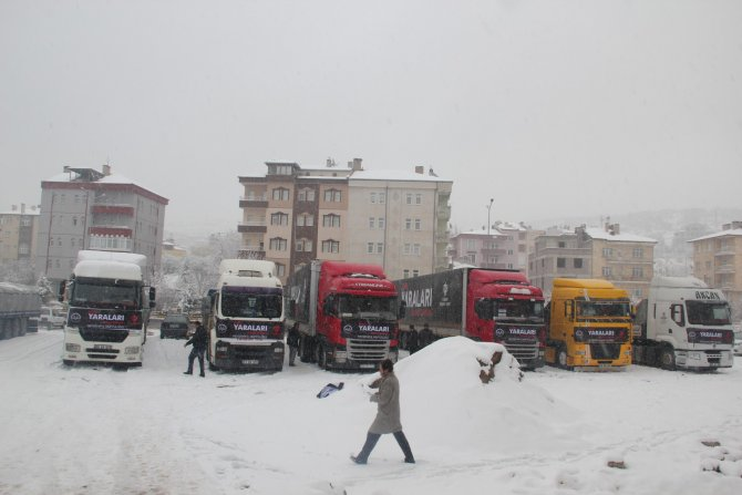 Türkmenlere 8 TIR un ve patates gönderildi