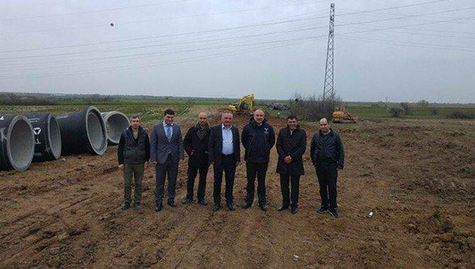 Karaağaç Kanalizasyon Kollektör Hattı İnşaat Çalışmaları
