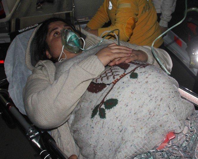 9 Aylık Hamile Kadın Yangında Mahsur Kaldı