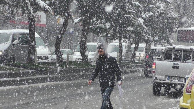 Bitlis'te kar yağışı devam ediyor