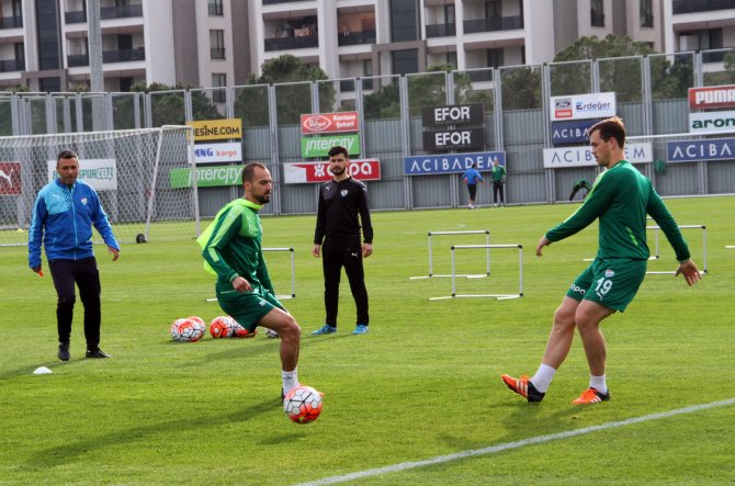 Bursaspor, Sivasspor maçı hazırlıklarını sürdürdü