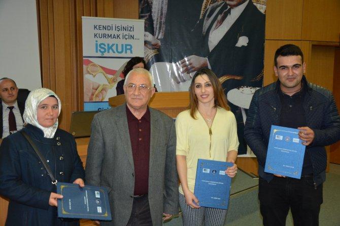 Çanakkale'de girişimciler sertifikalarını aldı