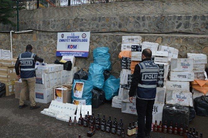 Diyarbakır'da 132 Bin 660 Paket Kaçak Sigara Ele Geçirildi