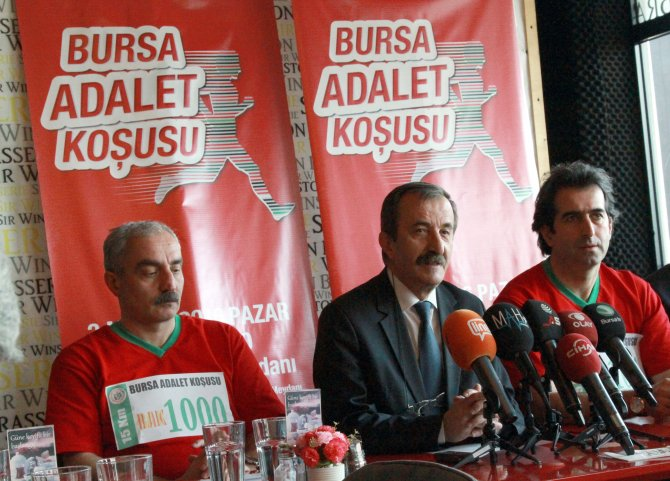Bursa'da 'adalet' için koşacaklar