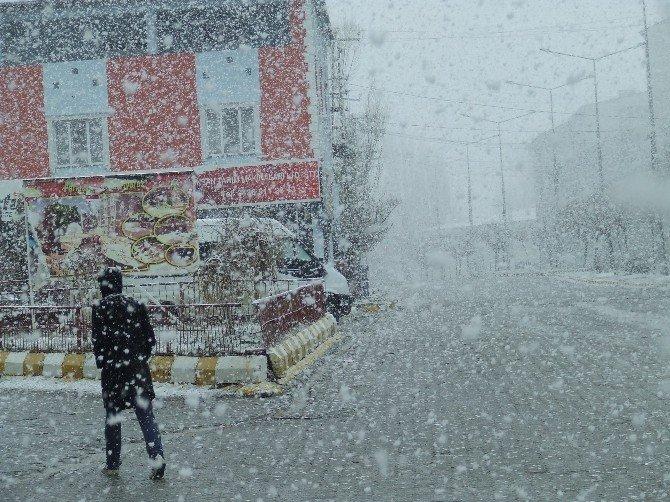 Malazgirt'te Lapa Lapa Kar Yağışı