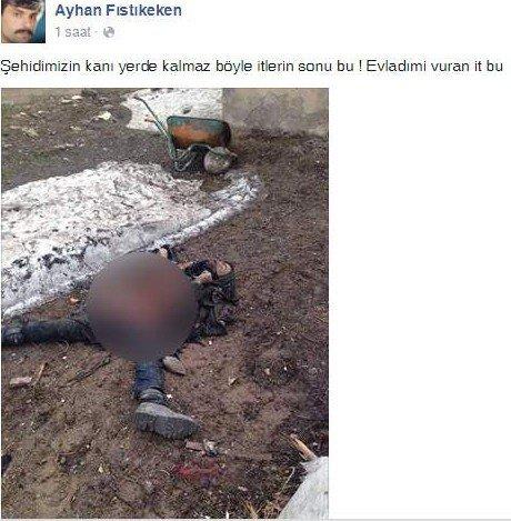 Şehit Babası Oğlunu Vuran Teröristin Fotoğrafını Paylaştı