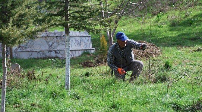 Pazarlar'da Mezarlıklara Bahar Bakımı