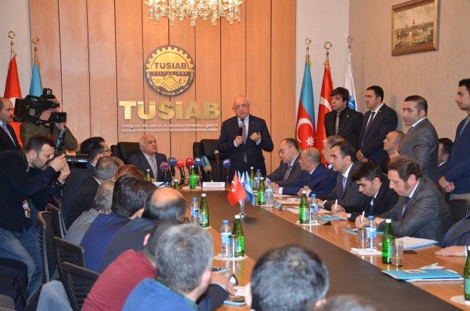 Azerbaycan Devlet Gümrük Komitesi Başkanı Türk işadamları ile biraraya geldi