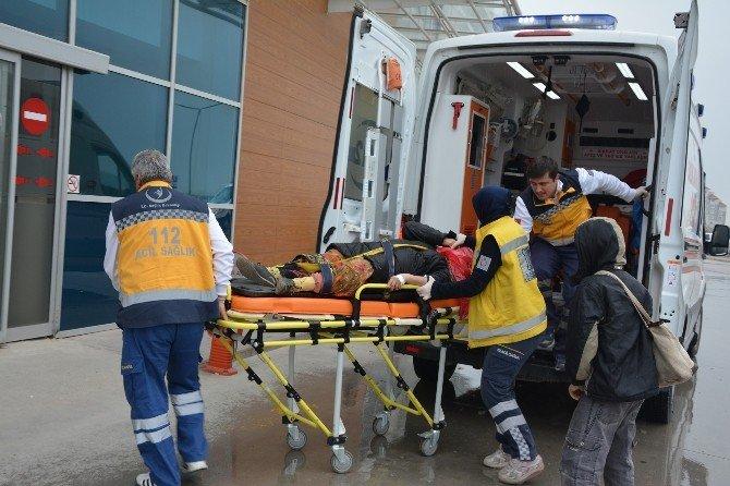 Bafra'da İlginç Kaza: 1 Yaralı