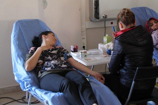 Pilot Okul Seçilen Efeler'de Öğrenciler Kan Bağışladı