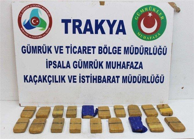 İpsala'da 2 Milyon TL'lik Uyuşturucu Ele Geçirildi