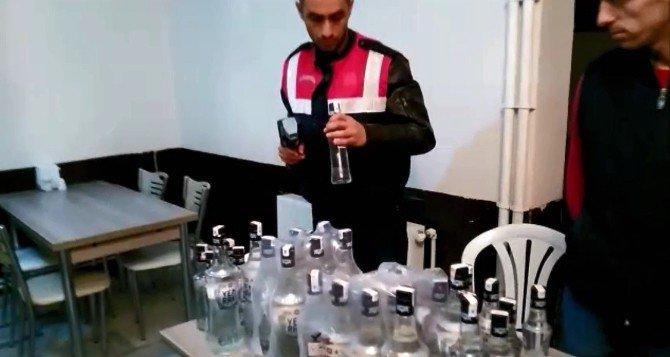 Keşan'da Sahte İçki Ele Geçirildi