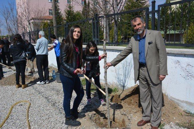 Atatürk Anadolu Lisesi Şehitler İçin Fidan Dikti