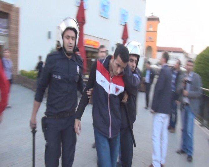 Kızıldere Protestosunda İzinsiz Yürüyüşe Polis Müdahalesi