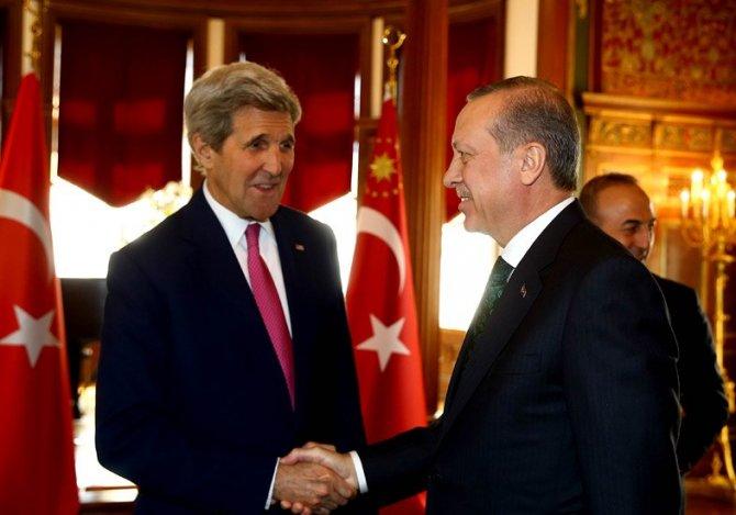 Cumhurbaşkanı Erdoğan, Kerry'i kabul etti