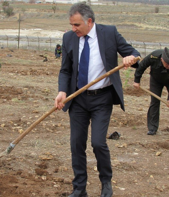 Uşak Ceza İnfaz Kurumu Bahçesine 600 Fidan Dikildi