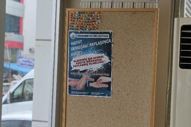 """Cihanbeyli'de """"Askıda Ekmek Var"""" Kampanyası Büyüyor"""
