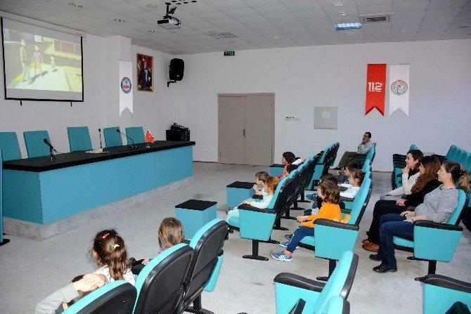 Anaokulu Ögrencilerinden 112 Acil Çağrı Merkezine Ziyaret
