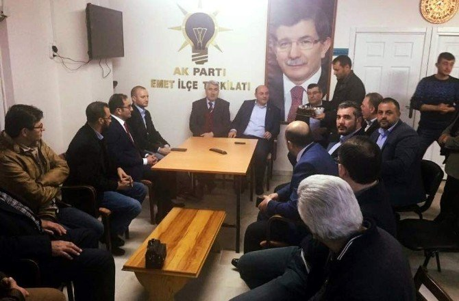 Çetinbaş Ve Yılmaz Emet'te AK Parti Yönetim Kurulu Toplantısı'na Katıldı
