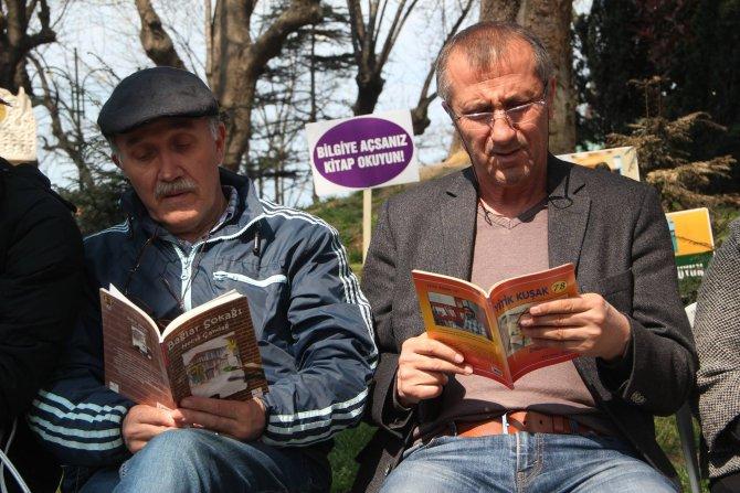 Zonguldaklılar, açık havada kitap okumayı sevdi