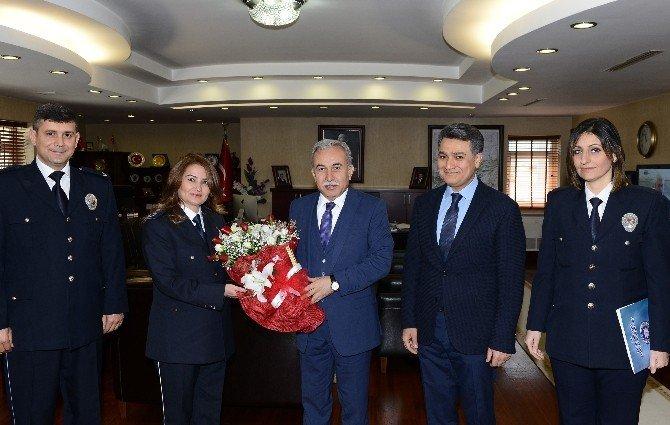 """Emniyet Müdürü Zeybek'ten Vali Büyük'e """"Polis Haftası"""" Ziyareti"""