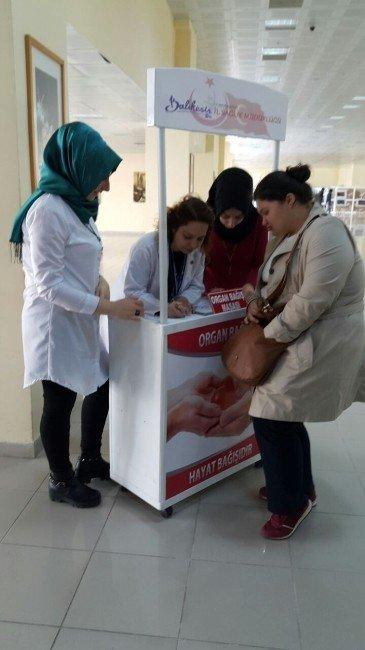 Baün'de Organ Bağış Standı Açıldı