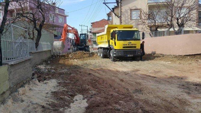 Uşak Belediyesi Baharla Birlikte Yol Çalışmalarına Başladı