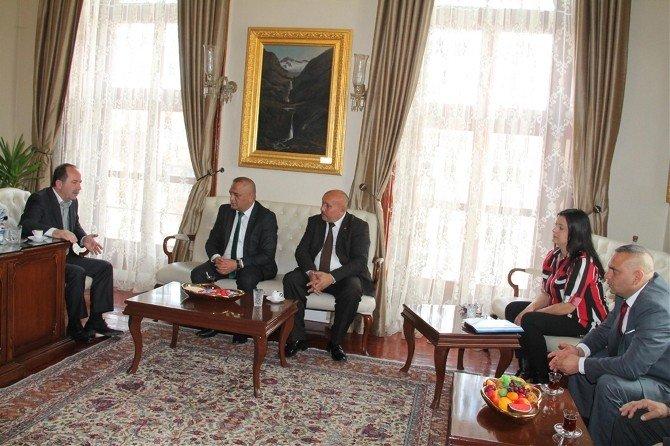 Troydem'den Edirne Belediye Başkanı Gürkan'a Ziyaret