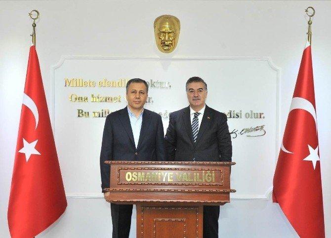 Gaziantep Valisi Yerlikaya, Vali Al'ı Ziyaret Etti