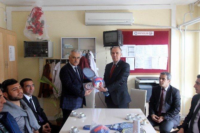 Gençlik Hizmetleri Ve Spor İl Müdürü İ Arkaltı Okul Ziyaretlerine Devam Ediyor