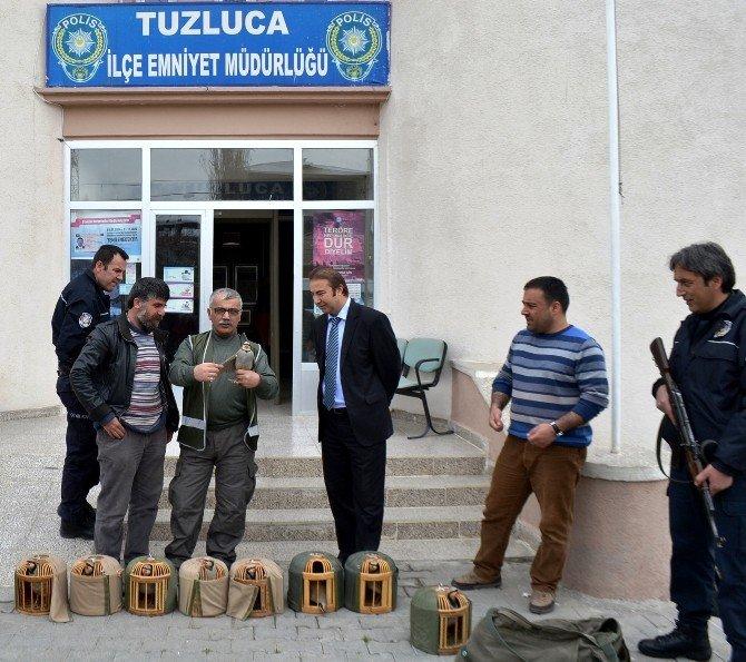 Polis Kaçak Keklik Avcılarını Avladı