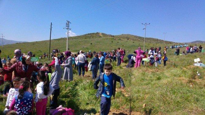 250 Öğrenci Ödemiş'te Fidanları Toprakla Buluşturdu