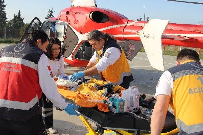 Ambulans Helikopter Kalbi Duran Bebek İçin Havalandı