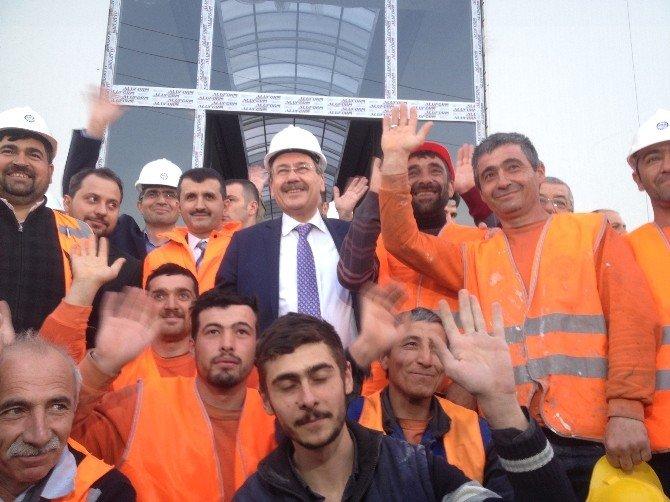 Gökçek, Osmanlı Halk Pazarı'nın İnşaatını İnceledi