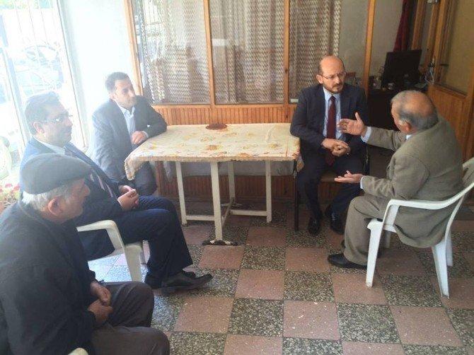Başkan Özcan'dan Acılı Babaya Ziyaret