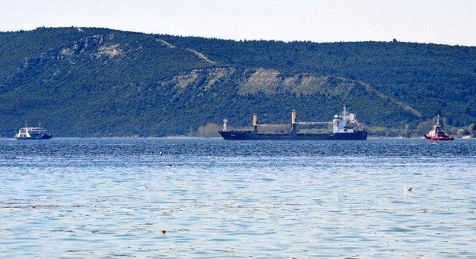 Çanakkale Boğazı'nda Bir Gemi Makine Arızası Yaptı