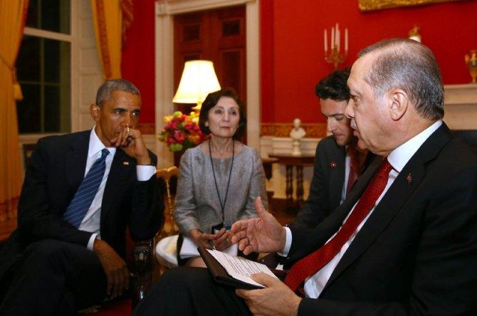 Cumhurbaşkanı Erdoğan, ABD Başkanı Obama ile görüştü